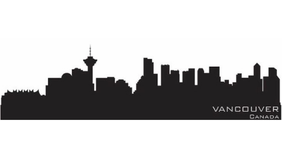 Picture of the silhouette of vancouver BC used as reference material for Michaels tattoo